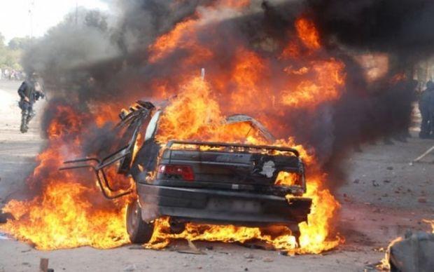 "Sumqayıtda ""Lada"" avtomobili yandı"