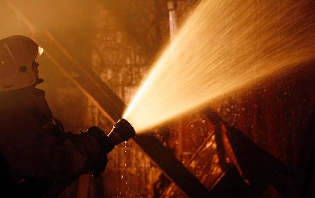 Goranboyda 20 ton pambıqla dolu yük avtomobili yandı