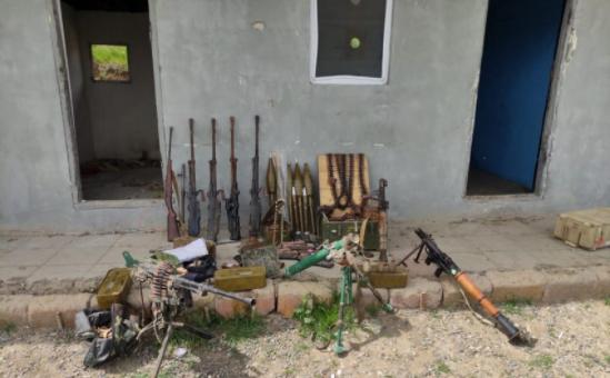 Laçın polisi azad edilən ərazilərdə silah-sursat aşkarladı – FOTO