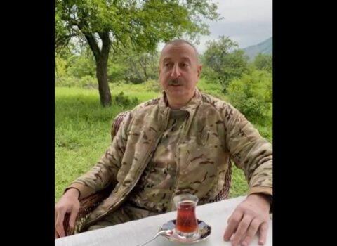 """Prezident """"Xarıbülbül"""" festivalında iştirak etmək üçün Şuşaya getdi – VİDEO"""